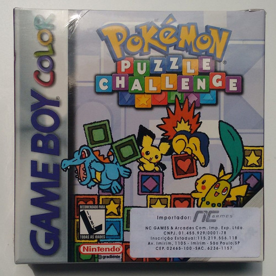 Jogo Pokemon Puzzle Challenge Game Boy Color Lacrado +brinde