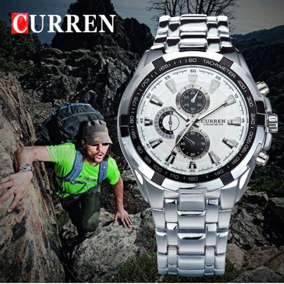 Relógio De Pulso Masculino Inoxidável Curren Aço Inoxidável