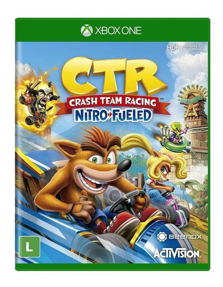 Crash Team Racing Nitrofueled Xbox One Mídia Física Lacrado