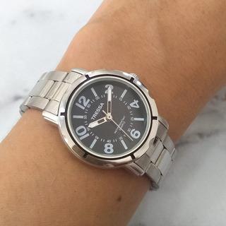 Reloj Tressa Lucia Dama Cuadrante Negro Metal Braine Joyas