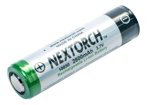 Bateria Recarregável 2600mah Li-ion 3.7v Nextorch 18650
