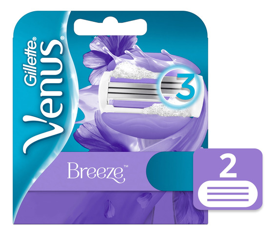 Gillette Venus Breeze Cartuchos Para Afeitar 2 Unidades