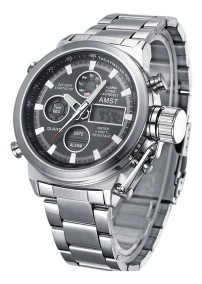 Reloj Amst Importado Stainless Steel Original Hombre