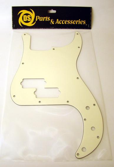 Pickguard Tricapa Bajo Precision Ds Parts Vintage Cream A70