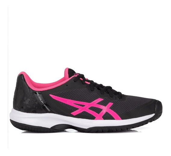 Tênis Asics Gel Court Speed Preto E Pink