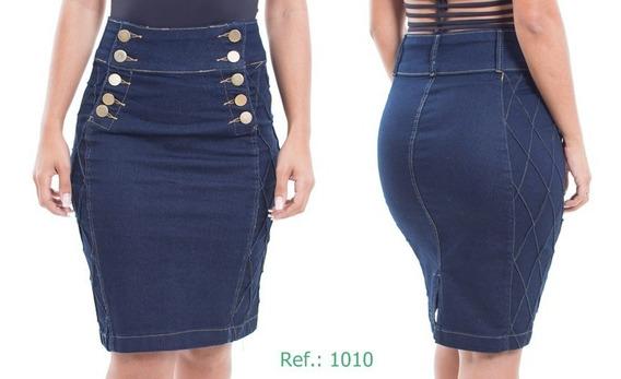2 Saias Jeans Combo Com Detalhe