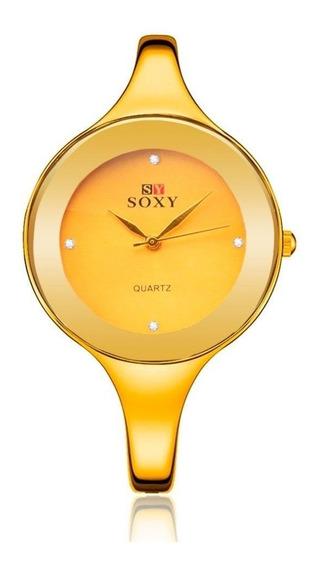 Relógio Bracelete Feminino Sy - Pulseira Rígida