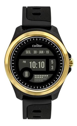 Relógio Masculino Condor Digital Silicone Preto