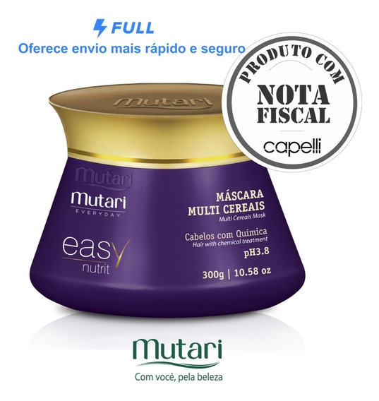 Máscara Multi Cereais 300g Mutari Easy Nutrit