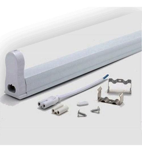 Kit C/ 6 Tubular T5 18w 1,20cm Com Calha - 3000k B Quente