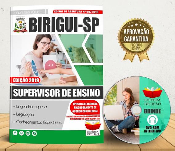 Apostila Birigui-sp 2019 - Supervisor De Ensino