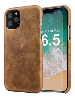 iPhone 11 Pro Max Funda De Cuero Slim Premium Leather iPhone