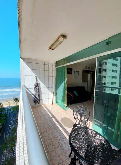 Apartamento Calçadão - Vista Para O Mar - 3 Dormitórios - Sacada - 1 Vaga Box - R$ 350.000,00 - Praia Das Pitangueiras - Guarujá/sp - Ap05273 - 68297734