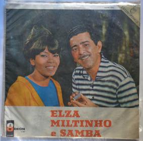 Elza Soares E Miltinho Lp Nac Usado Elza Milt & Samba 1967