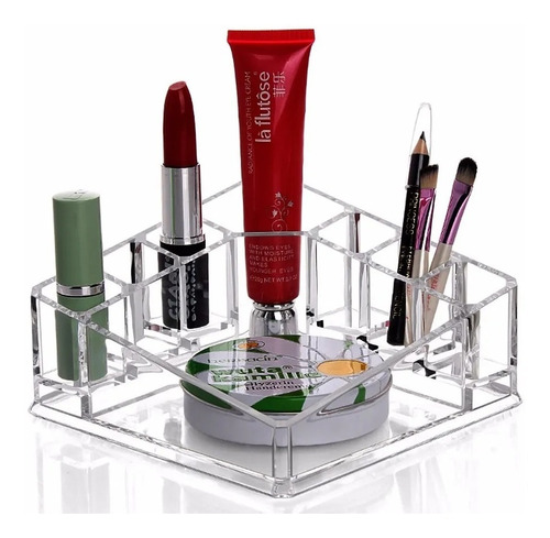 Imagen 1 de 7 de Organizador Cosméticos Maquillaje De Acrílico 8010 /  Lhua