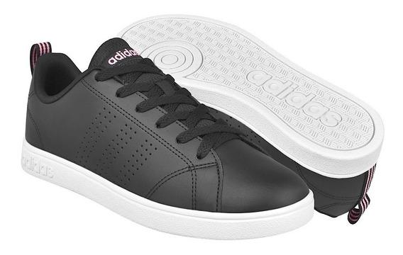 Tenis adidas Advantage Cl Negro/rosa Original + Envio