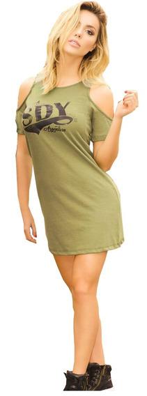 Vestido Hombros Descubiertos Shedyl 5098 -talles Grandes