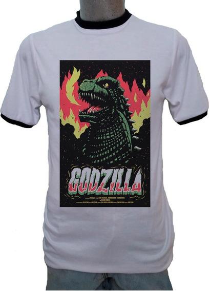 Playera Ringer Godzilla Gojira Vintage