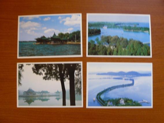 4 Enteros Postales De China - Paisajes