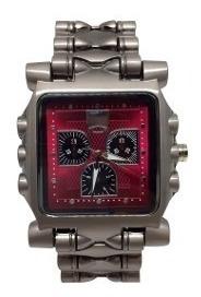 Relógio Tank Minute Machine Oakley Vermelho Com Caixa