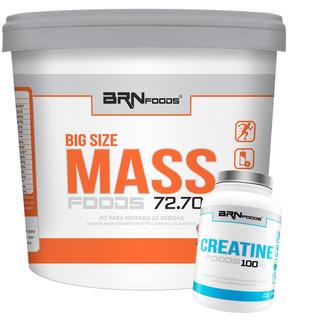Kit Size Mass 6kg + Creatina 100g - Brn Foods