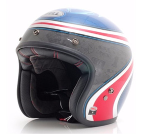 Capacete Bell Custom 500 Airtrix Heritage Blue Red