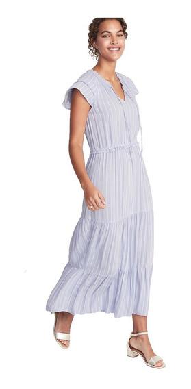Vestido Casual Dama Mujer Manga Corta Largo 409803 Old Navy