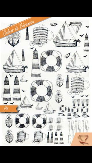 Calco Vitrificable Barcos