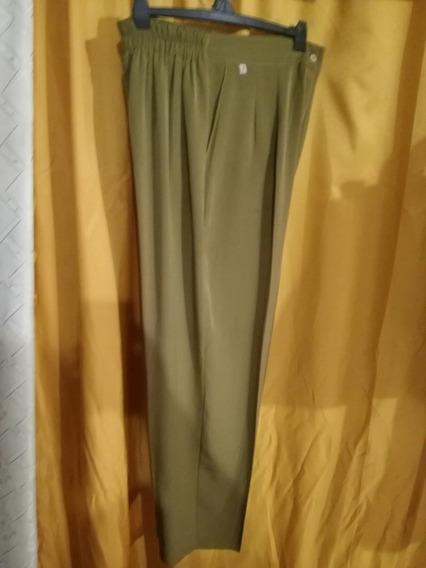 Pantalon Recto De Mujer Liso