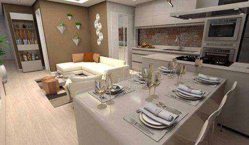 Apartamento Com 2 Dormitórios À Venda, 85 M² Por R$ 490.000,00 - Vila Bastos - Santo André/sp - Ap10939