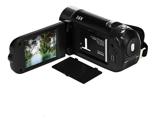 Hd 1080p Digital Zoom Filmadora De Vídeo Preto Uk Plug