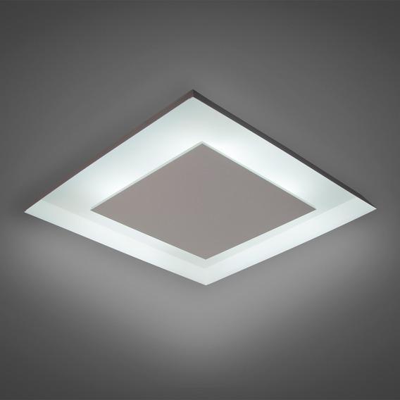 Lustre Sob Quadrado Iluminação Decorativa Luz Indireta 45x45