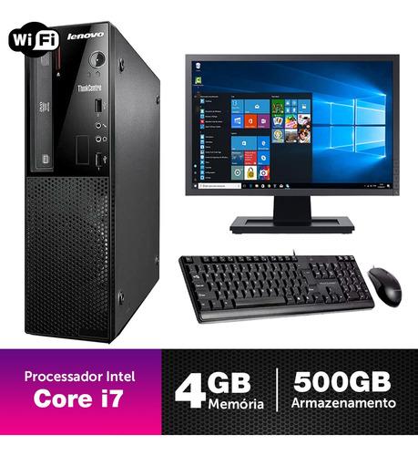 Imagem 1 de 5 de Computador Corporativo Lenovo I7 4g 4gb 500gb Mon19w