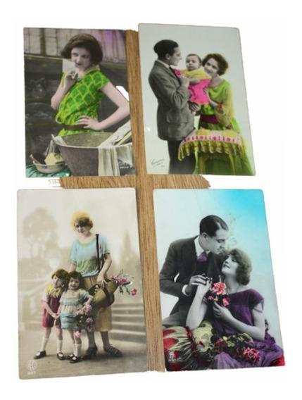 Postales Antiguas Pintadas Acuarela Francesas