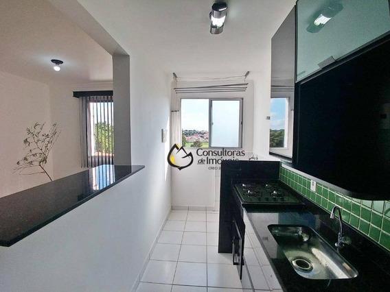 Apartamento Com 3 Dormitórios À Venda, 60 M² Por R$ 300.000 - Residencial Spazio Pontes Do Rialto - Paulínia/sp - Ap0267