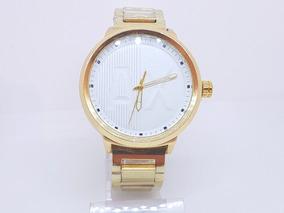Relógio Dourado Masculino Barato Fundo Branco Armani