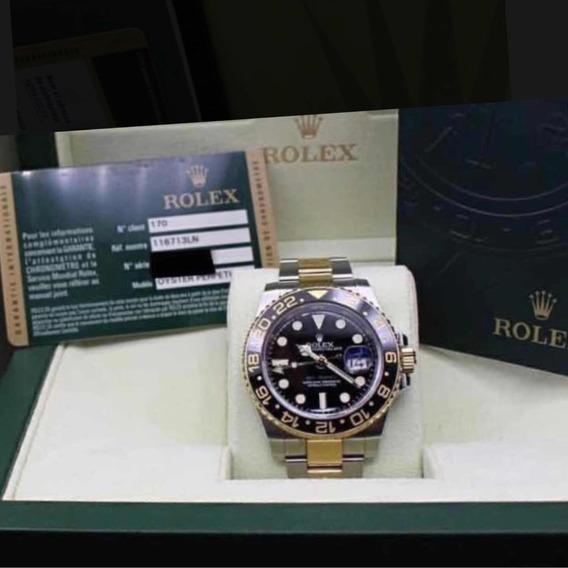 Relógio Rolex Gmt Master Ii,estojo,acabamento Suíço