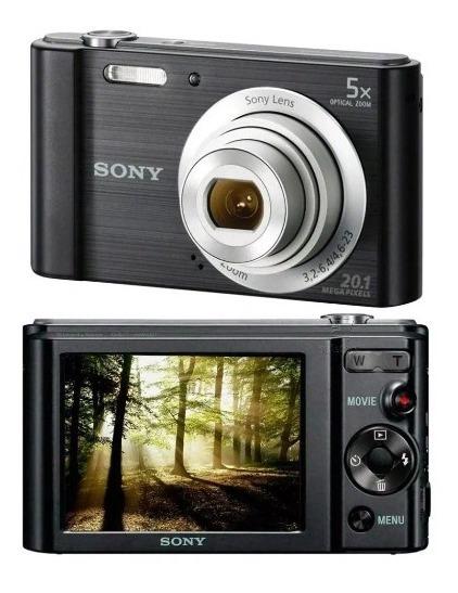 Câmera Digital Sony Cybershot Dsc-w800 20.1mp Zoom Óptico 5x
