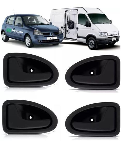 4 Puxador Interno De Porta Renault Clio Scenic Symbol Master