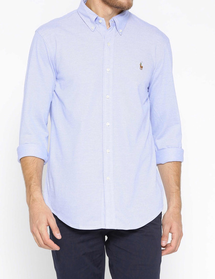 Camisa Polo Ralph Lauren Xl Lila Classic Fit Oxford Original