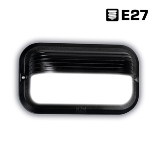 Aplique Pared Led Eva 3 Tortuga E27 Foco 23cm Farol Exterior