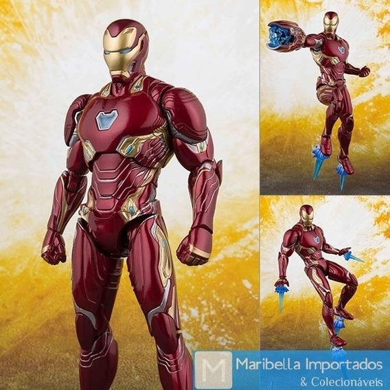 Action Figure Homem De Ferro Guerra Infinita + Base Standard