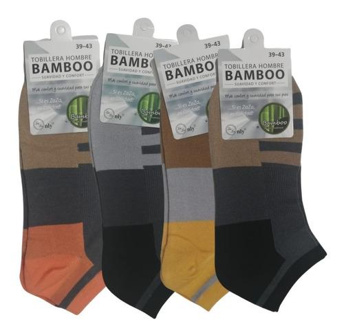 6 Pares Tobillera Bambu Suavidad 39 Al 43 Indus