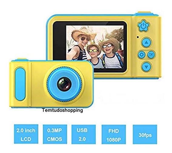 Câmera Digital Fotografica Kids Criança Selfie 3.0m Oferta