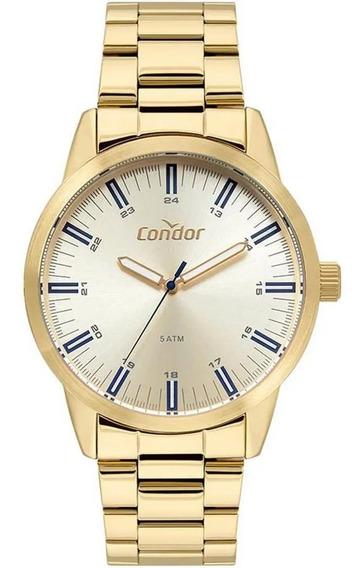 Relógio Condor Masculino Ref: Co2035mta/4x Casual Dourado