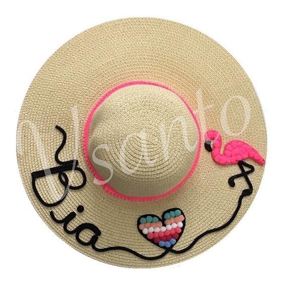 Chapéu De Praia Personalizado Com Nome Mais De 10 Cores