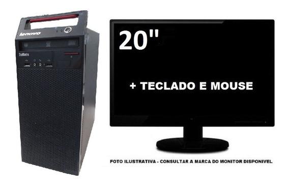 Computador Lenovo E73 Intel I5 4570 8gb 240gb Ssd Mon 20