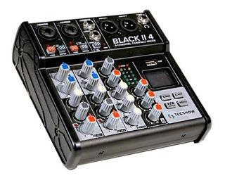 Tecshow Black Ii 4 Consola Mixer 4 Canales Usb Bluetooth