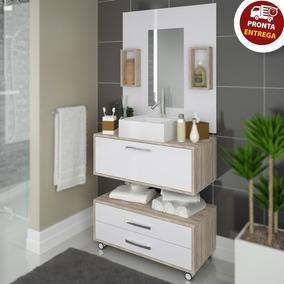 Gabinete P/ Banheiro Completo Cuba Painel Balcão + Garantia