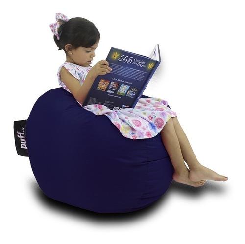Imagen 1 de 1 de Puff Para Niños Azul Marino - Perla De Unicel - Envío Gratis
